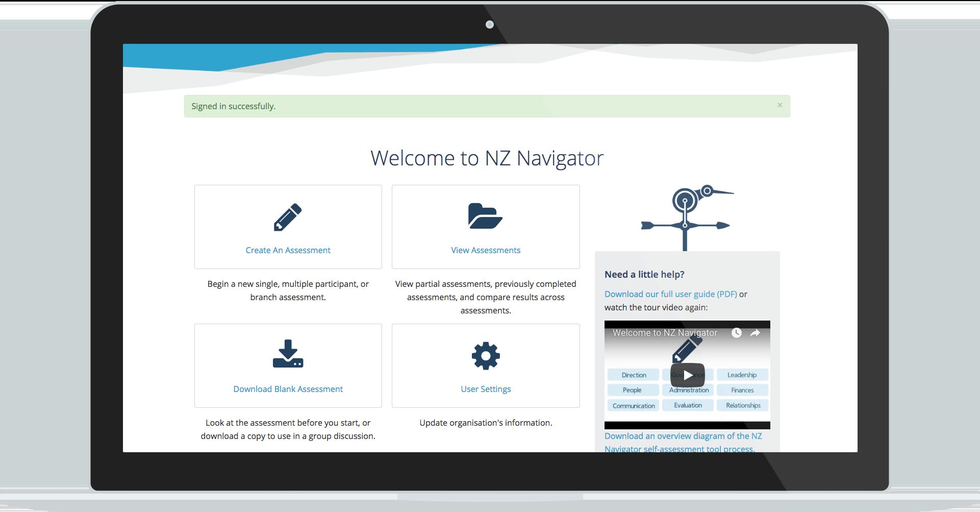 NZ Navigator website service design
