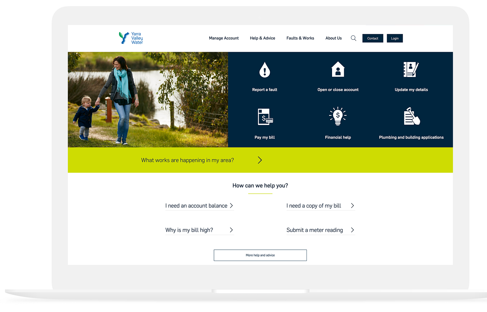 yarra valley water website design case study